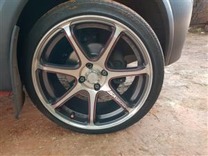 A-Line Mag Rims and Tyres For Sale or Swop(4x).
