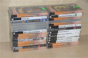 PSP ORIGINAL games & accessories sold separately