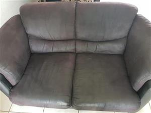 Lounge Suite suede and leather