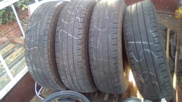 6 used tyres
