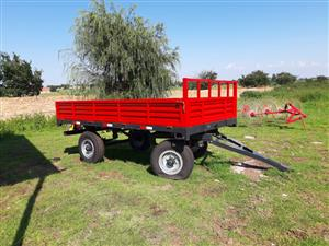 6T double axle trailer