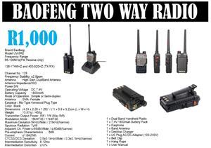 BAOFENG TWO WAY RADIO
