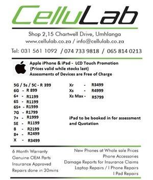 Repairs to iPhone iPad iWatch
