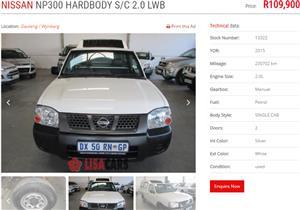 2015 Nissan NP300 Hardbody 2.0 S