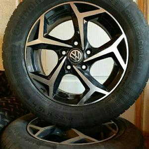 VW GOLF/JETTA/CADDY 15IN MAGS & TYRES 5X112