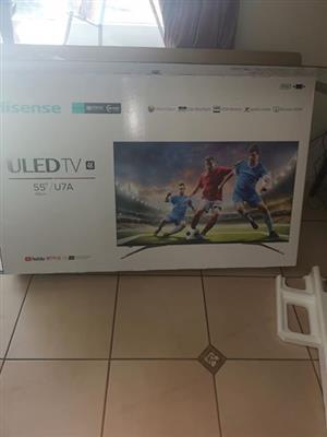 Hisense 55 inch. Uled 4k smart tv