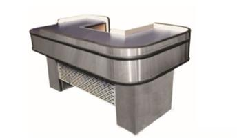 S/STEEL CHECK COUNTER LENGTH 1840x1030mm-SSCOC