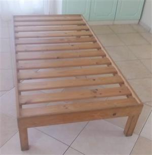 Three quarter solid pine wood bed for sale.