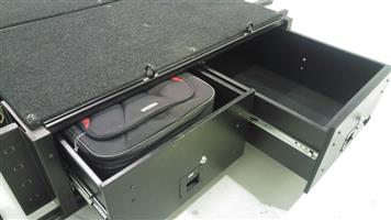 Bakkie drawers for double cab Toyota Hilux bin