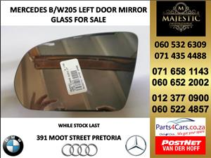 Mercedes benz W205 door mirror glass for sale