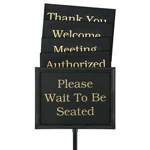 Hostess Signs – Classic Black Finish