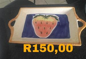 Strawberry serving tray