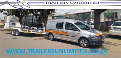 TRAILERS UNLIMITED DOUBLE AXLE CAR TRAILERS. TO BE THE BEST YOU NEED TO BE TRUSTED BY THE BEST.