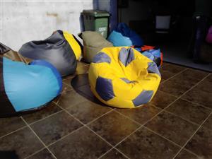 soccer ball bean bag for kids in different soccer team colours