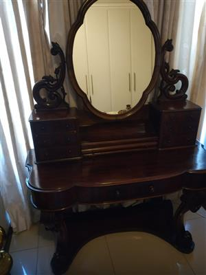 Antique Mahogany dressing table.