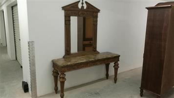 Winston sahd table and mirror