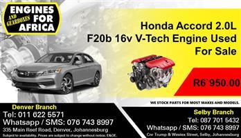 Honda Accord 2.0L F20b 16v V-Tech Engine Used For Sale.