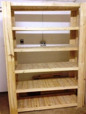 Bookshelf Farmhouse series 2000 solid shelves Raw