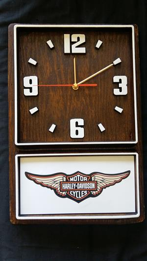 Harley Davidson Motor Cycles Box Clock. Design 2. Brand New Product.