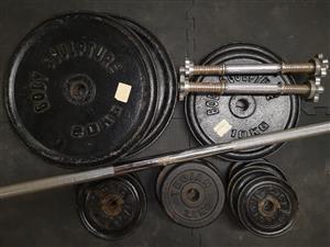 Gym Weights Set 129Kg