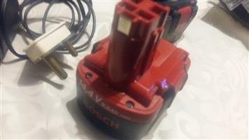 Bosch cordless batteries and fast charger