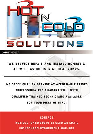 We service repair and install domestic as well as industrial heat pumps.