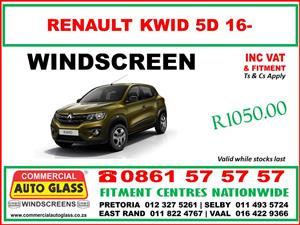 Renault Windscreen for sale & fitted