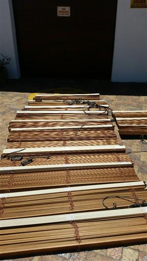 Electronic Oak Blinds for sale, price reduced!