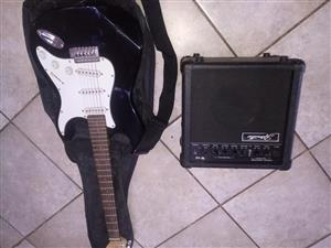 Ritwiller Guitar and amp.