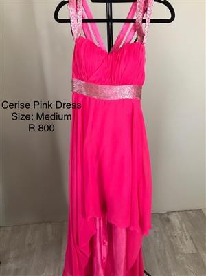 Cerise Pink Evening Dress - size Medium
