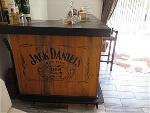 BAR - CUSTOM MADE JAMESON & JD LOGO