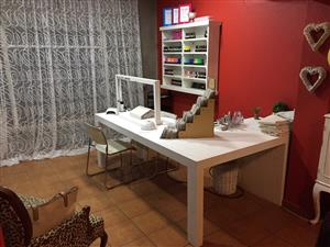 Manicure Station Farmhouse series 2100 combo - White washed
