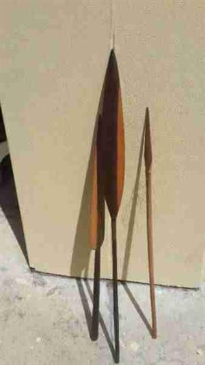 African Hardwood Spears decor