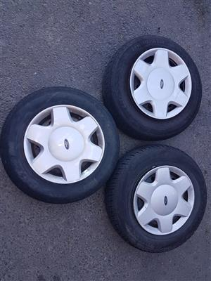 Ford Bantam or Mazda Soho or Ford Firsta or Tata Indica 13 inch steel rims for sale.
