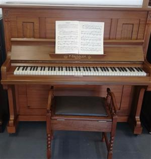 Upright Piano F. Geissler 1920s (Serial 25396) R 35500