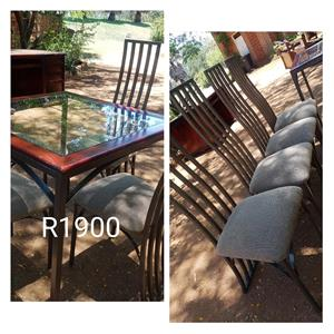 4 High back seater dining set