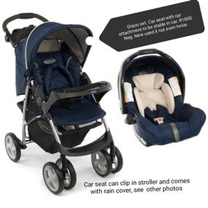 Graco stroller and car seat combo with every accessories