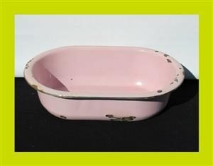 Pink Enamel Tub - SKU 553