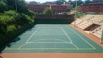 Johannesburg tennis courts is a company which specialises in the resurfacing of tennis courts 0829516487,renovation s of volleyball courts ,fencing of all sports facilities ,construction of tennis courts