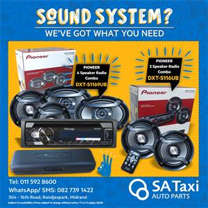 Pioneer DXT- S1169UB Car Audio System - SA Taxi Auto Parts quality spares