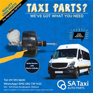 Brake Booster with Master Cylinder for Mercedes Sprinter - SA Taxi Auto Parts quality used spares
