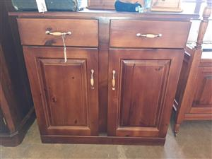 Two-drawer, two-door cupboard