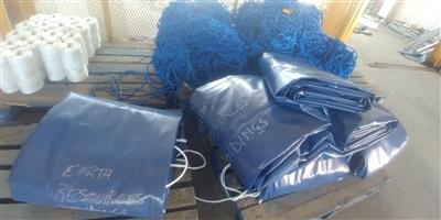 top quality pvc truck covers/tarpaulins and cargo nets for super-link and tri_axle