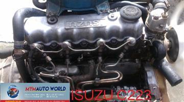 Imported used ISUZU 2.2L 8V, C223 ENGINE. Complete second hand used engine