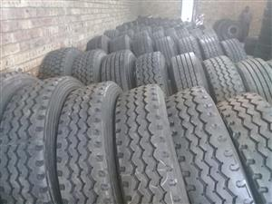 SECONDHAND TRUCK TYRES WITH 50-80% TREAD DEPTH,GUARANTEED,GOOD DISCUNTS OFFERED