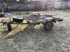 Quad bike trailer with gooseneck