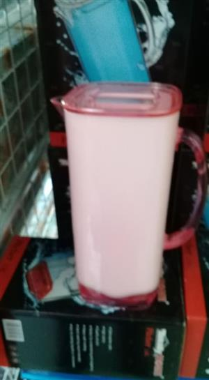 White and red jug for sale