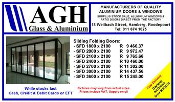 ALUMINIUM SPECIALS ON SLIDING FOLDING DOORS