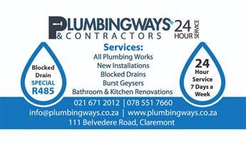 Plumbing Ways & Contractors 24hour Service