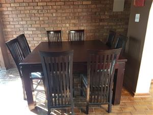 8 seater mohagany wood dining set for sale